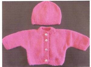 Details about  Premature Baby Jacket & Hat Knitting Pattern
