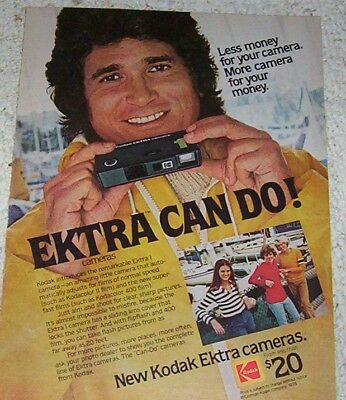 1978 vintage ad - MICHAEL LANDON Kodak Camera family kids PRINT AD Page
