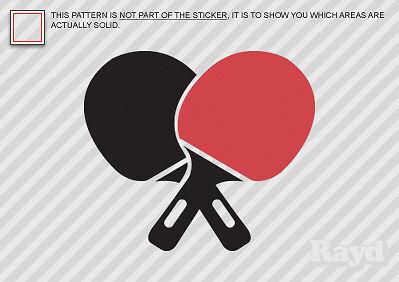 (2x) Table Tennis Sticker Decal Die Cut #3 ping pong