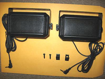 Motorol Style Ham Mobile Base Ht Cb Communications Extension Speaker 2 Speakers