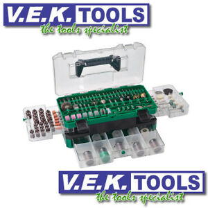 HITACHI-ROTARY-DRILL-DREMEL-MINI-GRINDER-LARGE-COMBO-KIT-389PCE-NEW-753949