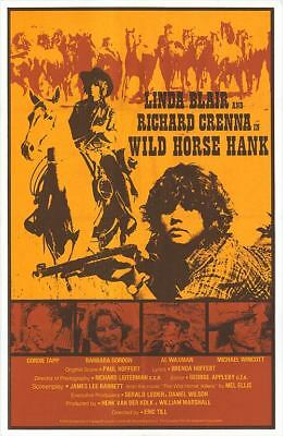 WILD HORSE HANK original 1979 movie poster LINDA BLAIR/RICHARD CRENNA