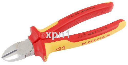 Knipex 70 06 180 VDE Fully Insulated Diagonal Side Cutters 180mm - 18451