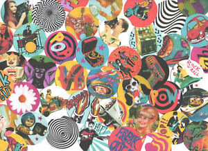40 60's STICKERS.  POP ART, MOD, SCI-FI, KITSCH, POP.