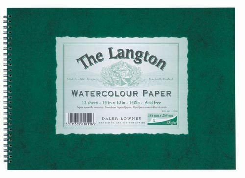 Daler Rowney Langton Watercolour 140lb Spiral NOT 14x10