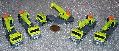 Lot Of 5 Micro Machines Semi With Crane Miniature
