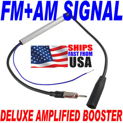 Deluxe Inline Car Antenna Radio AM & FM Signal Amp Amplifier Booster  on Rummage
