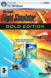 Microsoft Flight Simulator X PC Game Gold Edition NEW!