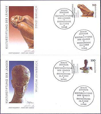 BRD 1999: Barlach und Lehmbruck! FDC der Nr. 2063+2064! Berliner Stempel! 1609