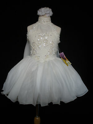 Infant Girl & Toddler National Pageant Dance Formal Party Dress Ivory