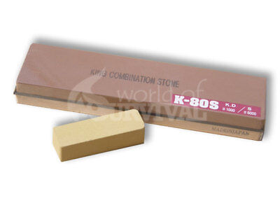 Japanese Waterstone Ice Bear 1000 / 6000 Grit PLUS Nagura Stone Sharpening