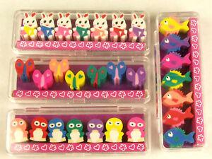 7-Piece-Cute-Mini-Animal-Pencil-Eraser-Set-Party-Loot-Bag-Pinyata-Fillers