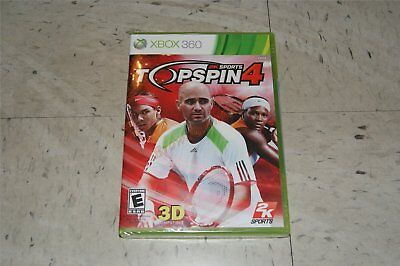 Top Spin 4 Tennis W/ Andre Agassi Genuine Xbox 360 Ntsc
