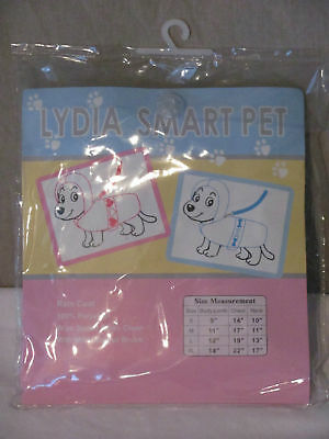 Lydia Smart Pet Transparent Raincoat Jacket Pink Hearts Size Small