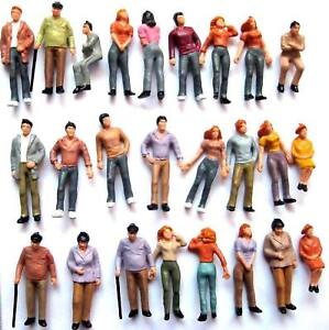 P75W 100pcs Model Trains 1:75 Painted Figures OO SCALE