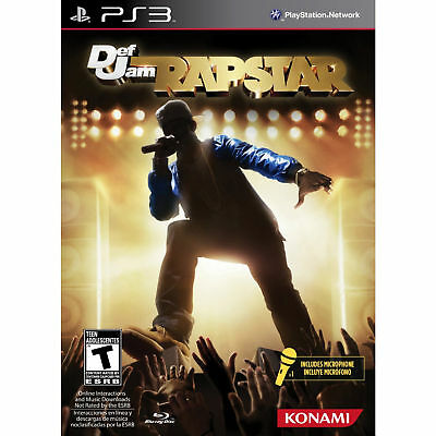 Def Jam Rapstar Bundle Game + Microphone Ps3 Konami