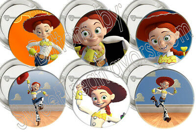 Jessie Party Supplies Toy Story 12 Pins Buttons Favors Treats Gift Decoration Nw
