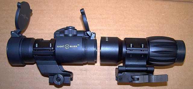 Sightmark Red Dot Sight And 5x Magnifier Combo