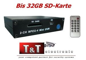 Digital Video Rekorder DVR bis 32GB SD Videoüberwachung