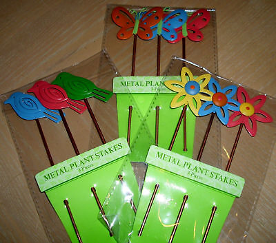 Metal Plant Stakes - Plant Markers - Plant Decorations - Birthday Cake Decor