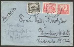 Bolivia-To-Germany-Censor-Via-LATI-Cover-1941-3-Stamp-L-K