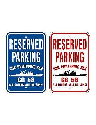 Uss Philippine Sea Cg 58 Parking Sign U S Navy Usn Military