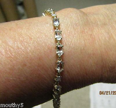 Yellow/white Gold 4.25tcw Aquamarine/diam Bracelet