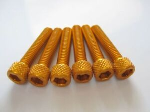Anodised-bolt-Allen-head-gold-M6-x-30-6-Pieces