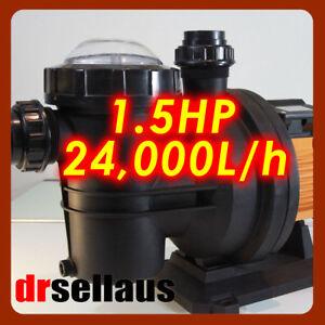 GLONG QUIET RUNNING 1.5 HP SWIMMING POOL/ SPA WATER PUMP ELECTRIC SELF PRIMING