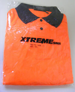 MENS-XTREME-HI-VIS-LONG-SLEEVED-WORK-SHIRTS-3XL
