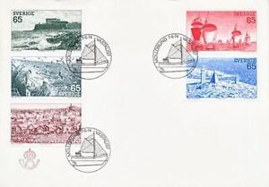 Sweden 1974 Mi 854-58 FDC Tourism Fishermen Sailboat - <span itemprop=availableAtOrFrom> Dabrowa, Polska</span> - Sweden 1974 Mi 854-58 FDC Tourism Fishermen Sailboat -  Dabrowa, Polska