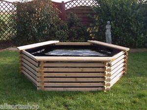 Garden Pool 300 Gallon Liner Raised Wooden Fish Pond