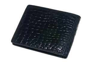 WALLET-CROCODILE-LEATHER-BLACK-TOP-QUALITY-MEMORABLE