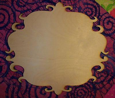 Unfinished Wood Wooden Plaque Fancy P19 -17.5 X 20