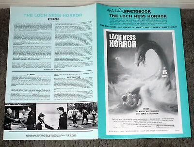 THE LOCH NESS HORROR original 1982 movie pressbook LARRY BUCHANAN