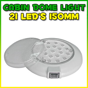 12V LED WHITE INTERIOR CABIN DOME READING LIGHT BOAT 4WD CARAVAN CAMPING LITE