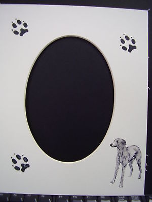 Picture Frame Mats 8x10 For 5x7 Italian Greyhound Hand-colored Ig Iggy Dog Mat