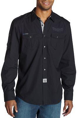 $68 Marc Ecko Cut & Sew Men's Saddle Up Shirt Navy Sm