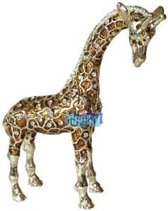 Gold Giraffe Crystals Jewellery Jewelry Trinket Box