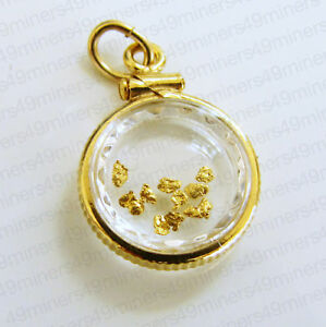 22k GOLD NUGGET PENDANT PLACER GOLD NUGGETS JEWELRY LOCKET PERFECT GIFT FOR HER