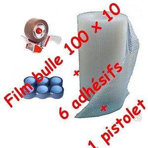 rouleau film a bulles 100 x 10 papier bulle 1 adhesif 1 devidoir de scotch ebay. Black Bedroom Furniture Sets. Home Design Ideas