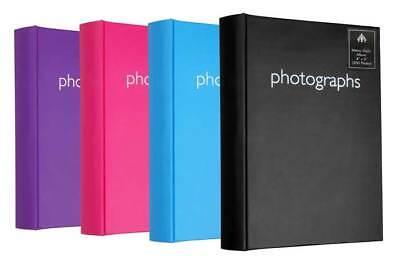 Large Purple Memo Slip In Photo Album 300 6 x 4 Photos