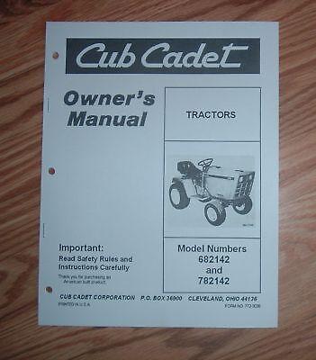 CUB CADET  682 & 782  OWNER / OPERATORS  MANUAL