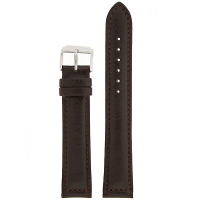 Extra Long Watch Dark Brown Leather Strap Lea1470