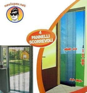Tenda zanzariera per finestra porte 4 pannelli scorrevoli 100x220cm ebay - Tenda per porta finestra ...