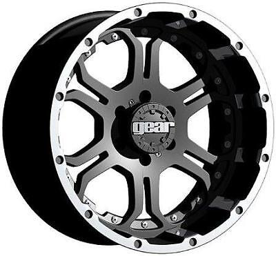 """18"""" GEAR ALLOY RECOIL BLACK WITH 325/65/18 NITTO TERRA GRAPPLER AT WHEELS RIMS"""