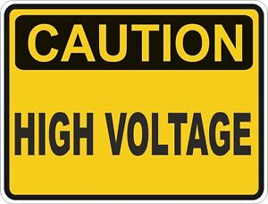 1x-CAUTION-HIGH-VOLTAGE-WARNING-VINYL-STICKER-BUMPER