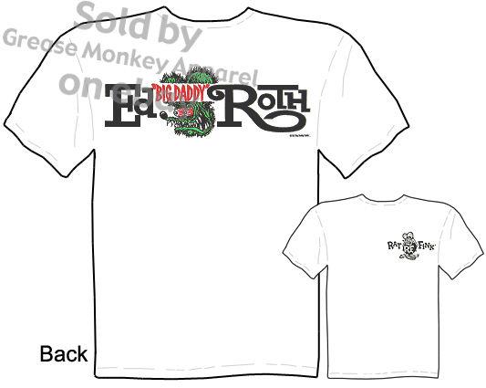 Rat Fink Ed Roth Logo T Shirt Big Daddy Apparel Tee, Sz M L Xl 2xl 3xl Quality