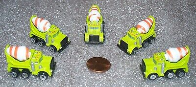 Lot Of 5 Micro Machines Concrete Mixer Miniature