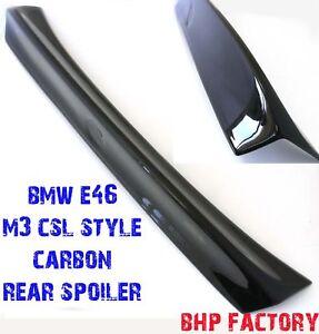 bmw e46 m3 rear boot spoiler csl style carbon fibre lip. Black Bedroom Furniture Sets. Home Design Ideas